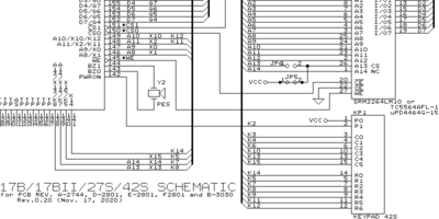 HP 42S schematic